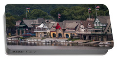 Boathouse Row Philadelphia Pa  Portable Battery Charger by Terry DeLuco