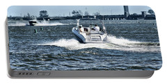 Boating Off Of Jones Beach Portable Battery Charger