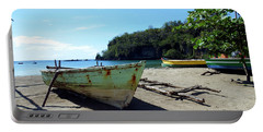 Portable Battery Charger featuring the photograph Boats At La Soufriere, St. Lucia by Kurt Van Wagner