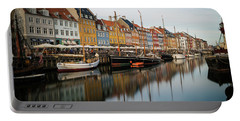 Boats At Nyhavn In Copenhagen Portable Battery Charger