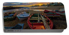 Boats At Sunset, Bahia, Brazil Portable Battery Charger