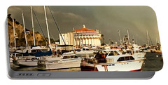 Portable Battery Charger featuring the photograph Boats Catalina Island California by Floyd Snyder