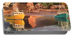 Boats In Kennebunkport Harbor Portable Battery Charger