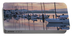 Boats In Pastel Portable Battery Charger