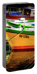 Boats In Rovinj Portable Battery Charger