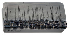 Portable Battery Charger featuring the photograph Boats In The Izola Marina - Slovenia by Stuart Litoff