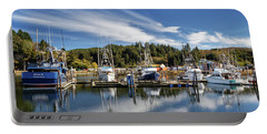 Portable Battery Charger featuring the photograph Boats In Winchester Bay by James Eddy