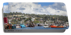 Boats In Yaquina Bay Portable Battery Charger
