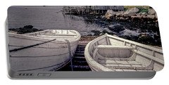Boats Near Peggys Cove Portable Battery Charger