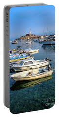 Boats Of The Adriatic, Rovinj, Istria, Croatia  Portable Battery Charger