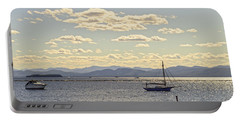 Boats On Lake Champlain Vermont Portable Battery Charger