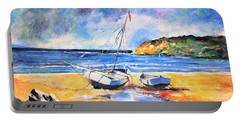 Boats On The Beach Portable Battery Charger
