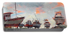 Boatyard Silhouettes Portable Battery Charger