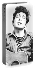 Bob Dylan Drawing Art Poster Portable Battery Charger by Kim Wang