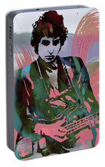 Bob Dylan Modern Etching Art Poster Portable Battery Charger by Kim Wang