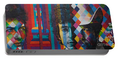 Bob Dylan Mural Minneapolis The Times They Are A Changin Portable Battery Charger