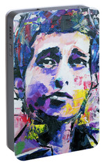 Bob Dylan Portrait Portable Battery Charger by Richard Day