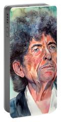 Bob Dylan Watercolor Portrait  Portable Battery Charger