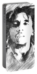 Bob Marley Bw Portrait Portable Battery Charger