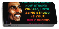Bob Marley Quote Portable Battery Charger