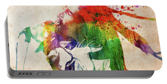 Bob Marley Singing Colorful Portrait Portable Battery Charger