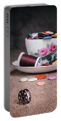 Bobbin And Buttons Portable Battery Charger
