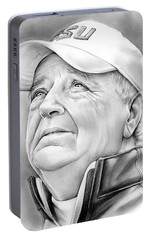 Bobby Bowden Portable Battery Charger by Greg Joens