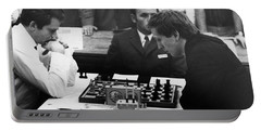 Portable Battery Charger featuring the photograph Bobby Fischer (1943-2008) by Granger