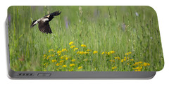 Portable Battery Charger featuring the photograph Bobolink In Paradise by Bill Wakeley