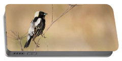 Portable Battery Charger featuring the photograph Bobolink  by Ricky L Jones