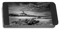 Portable Battery Charger featuring the photograph Boca Grande Florida Bw by Marvin Spates