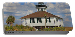 Portable Battery Charger featuring the photograph Boca Grande Lighthouse View Three by Rosalie Scanlon