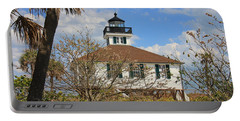 Portable Battery Charger featuring the photograph Boca Grande Lighthouse View Two by Rosalie Scanlon