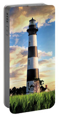 Portable Battery Charger featuring the painting Bodie Island Lighthouse by Christopher Arndt