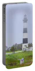 Bodie Island Lighthouse Rainy Day Portable Battery Charger