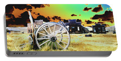 Portable Battery Charger featuring the photograph Bodie Wagon by Jim and Emily Bush