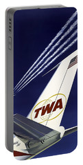 Boeing 707 Trans World Airlines C. 1960 Portable Battery Charger