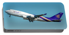 Boeing B747-400 Thai Airline Departed From Milano Malpensa Airport Portable Battery Charger