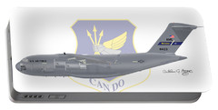 Portable Battery Charger featuring the digital art Boeing C-17 Globemaster IIi Mcguire Afb by Arthur Eggers