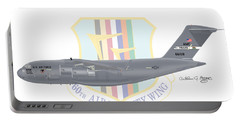 Portable Battery Charger featuring the digital art Boeing C-17 Globemaster IIi Travis Afb by Arthur Eggers