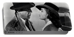 Bogey And Bergman Casablanca  1942 Portable Battery Charger by Daniel Hagerman