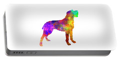 Bohemian Wirehaired Pointing Griffon In Watercolor Portable Battery Charger