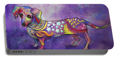 Portable Battery Charger featuring the drawing Dachshund by Patricia Lintner