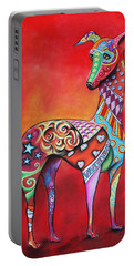 Portable Battery Charger featuring the mixed media Italian Greyhound  by Patricia Lintner