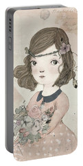 Boho Little Girl Portable Battery Charger