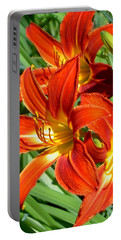 Bold And Beautiful Lilies Portable Battery Charger