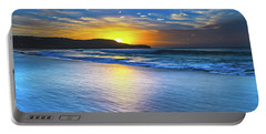 Bold And Blue Sunrise Seascape Portable Battery Charger