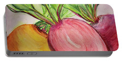 Bold Beets Portable Battery Charger by Kim Nelson