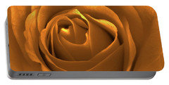 Bold Blossom Copper Rose Portable Battery Charger by Patricia E Sundik