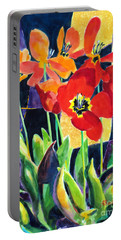 Bold Quilted Tulips Portable Battery Charger